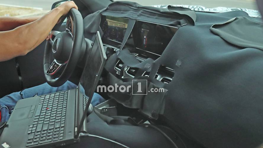 mercedes benz gls class interior spied with massive