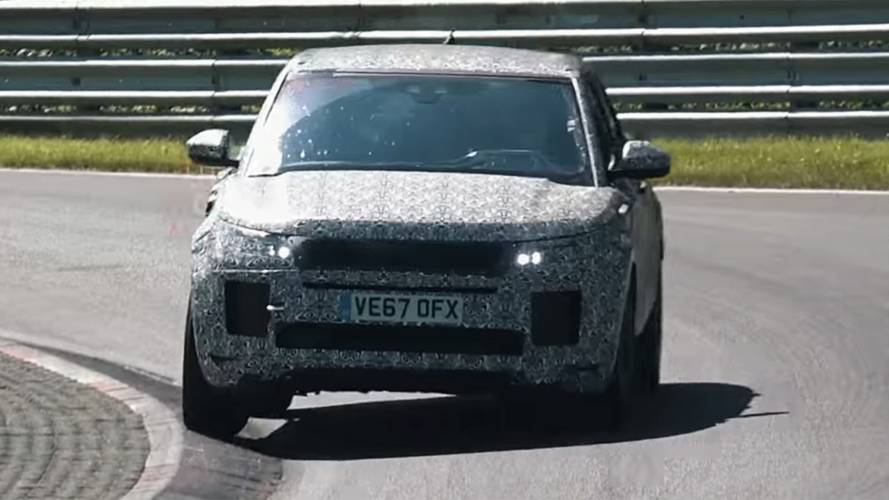 Next-Gen Land Rover Evoque Spied Climbing Curbs At The 'Ring
