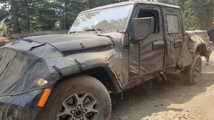 Jeep Wrangler Pickup Test Mules Spied Very Dirty On The Trail