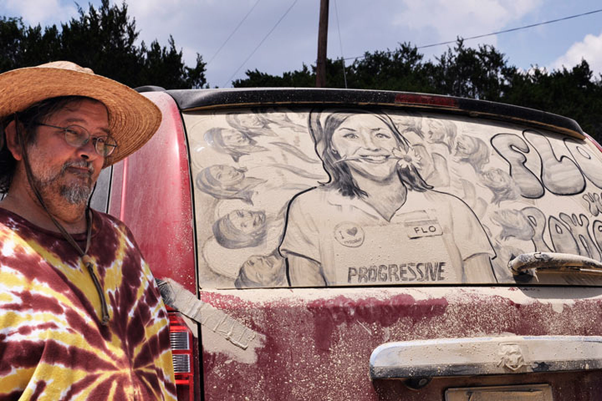 Texas Man Turns Dirty Car Windows into Art