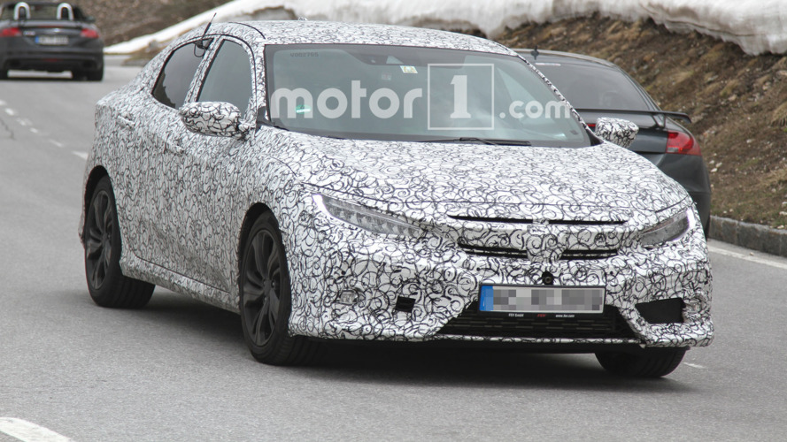 2017 Honda Civic spied climbing through the Alps
