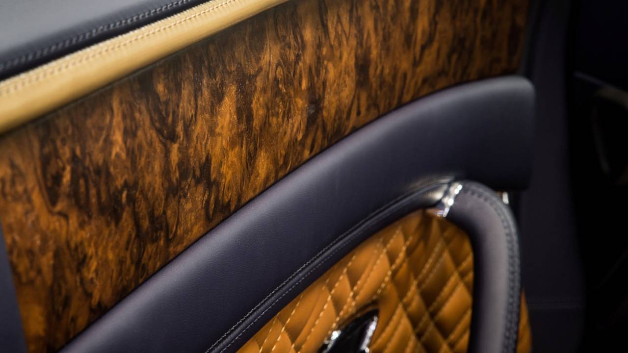 Bentley's open-pore walnut veneer