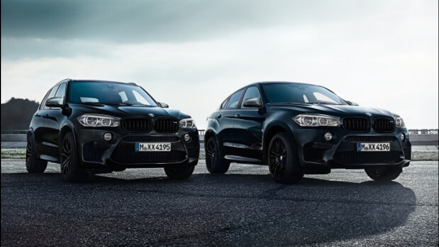 BMW X5 M e X6 M Black Fire Edition, la potenza del nero