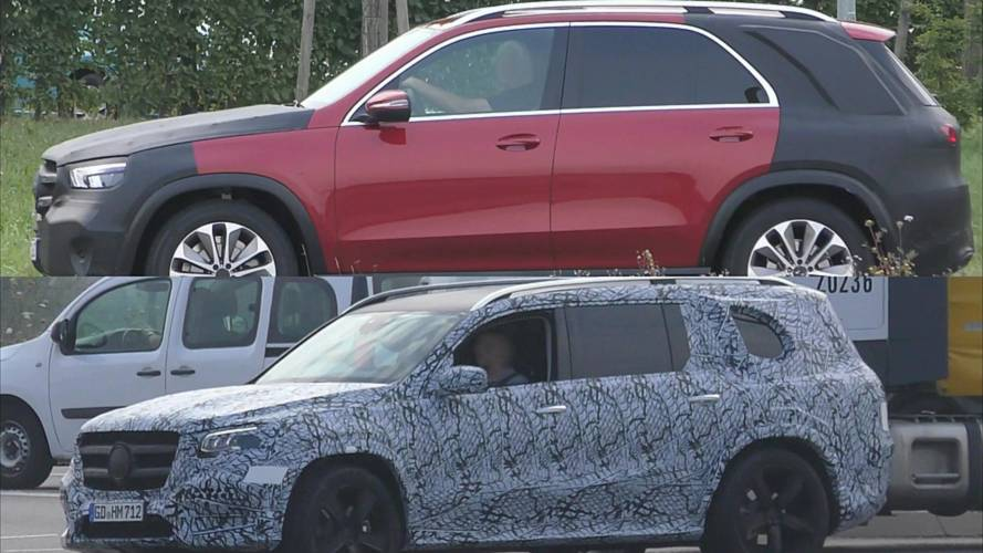 Mercedes caught in traffic testing all new gle and gls for All new mercedes benz