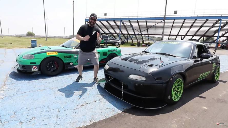 Watch A Supercharged Miata Battle A Turbocharged Miata On Track