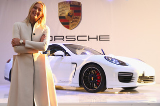 Maria Sharapova Shows Off Bespoke Panamera GTS