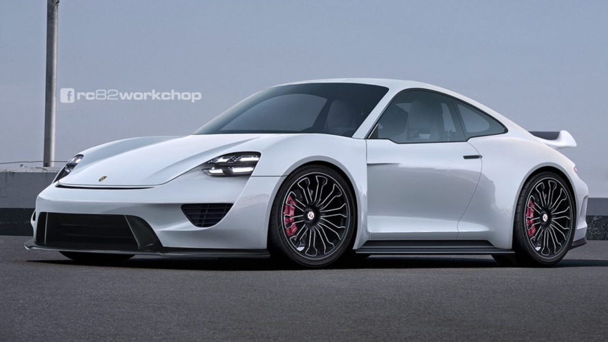 Porsche 911 reimagined with Mission E styling cues