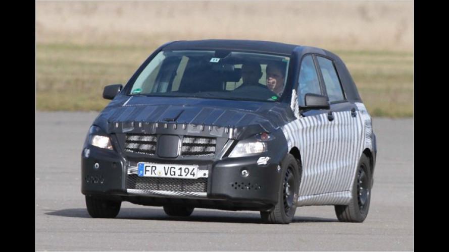 Erwischt: Mercedes testet die neue B-Klasse