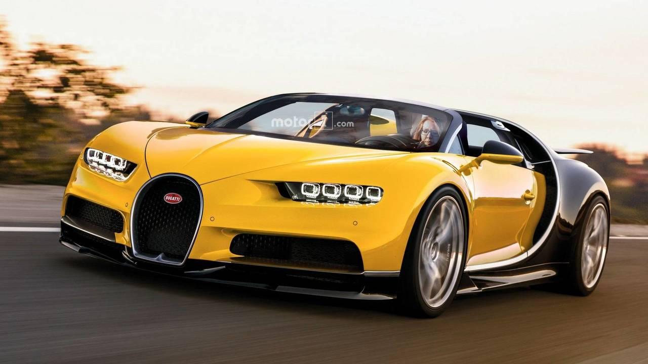Bugatti Chiron Roadster render