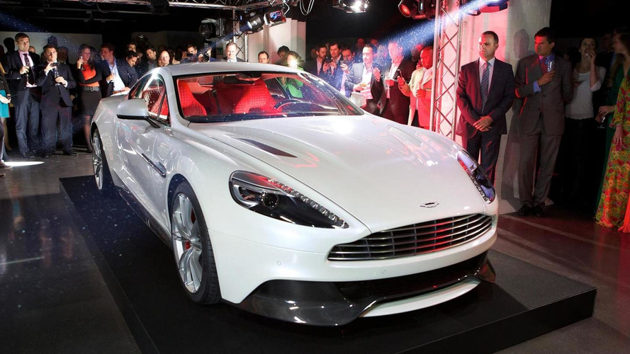New Aston Martin Vanquish celebrates star-studded debut in London