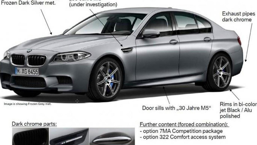 BMW M5 30th anniversary edition leaked