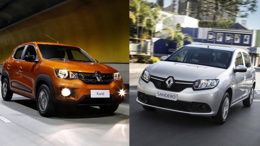 Briga em casa - Renault Kwid Intense vs. Sandero Authentique
