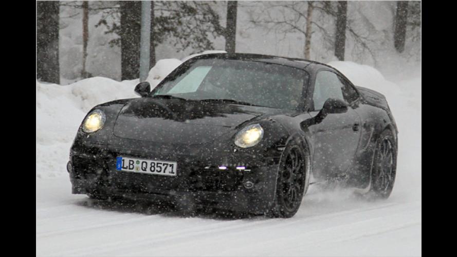 Neuer Porsche 911 erwischt: Schön, aber sparsam