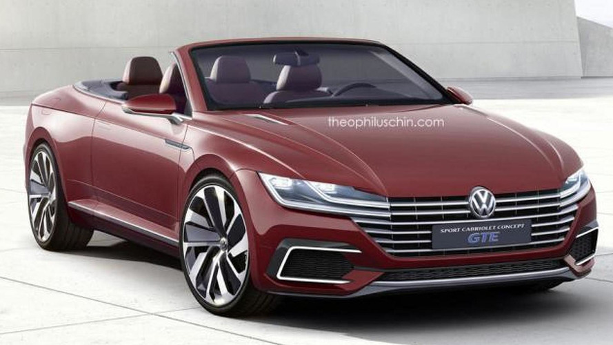 Volkswagen Eos replacement rendered as the Sport Cabriolet Concept GTE