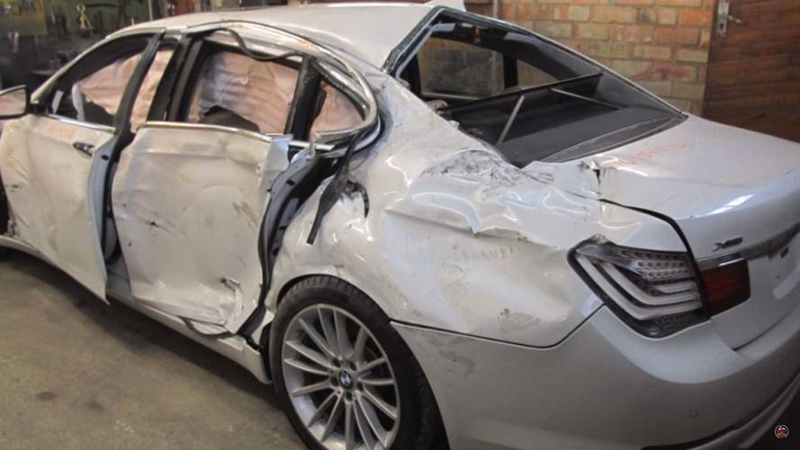 See This Body Repair Pro Bring A BMW 7 Series Back From The Dead