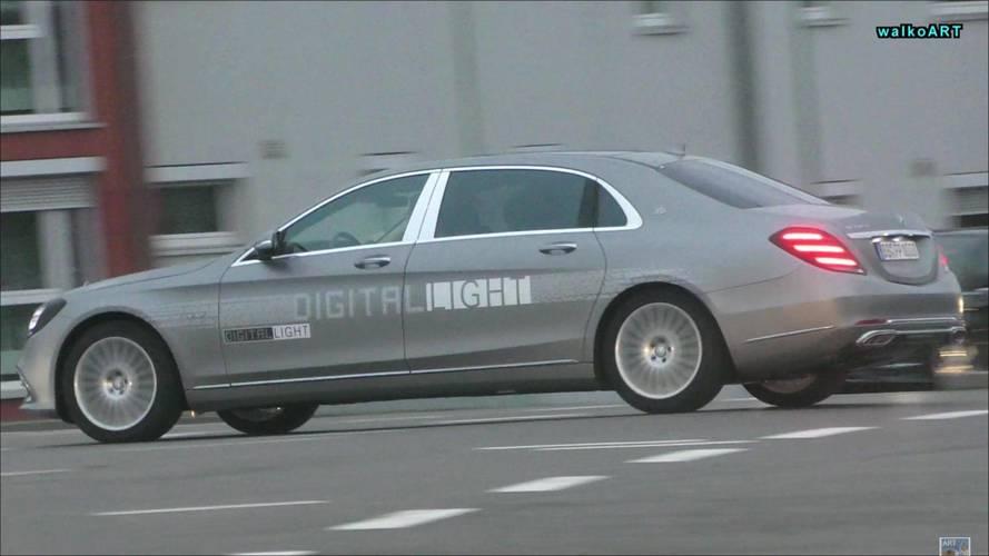 Fotos espía: cazan a Mercedes-Benz probando los faros del futuro