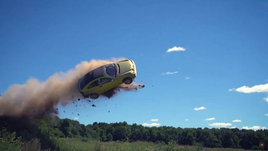 See This Supercharged Mercedes Jump A Dirt Hill In A Single Bound