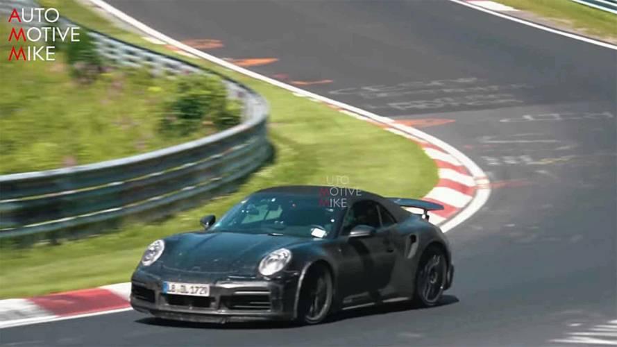 Porsche 911 Turbo Cabriolet Nürburgring'de görüntülendi