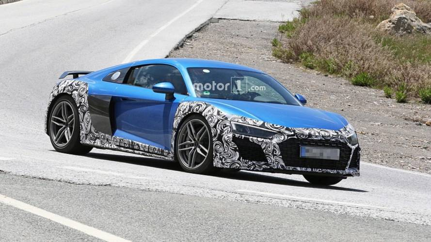 Audi R8 Spied With New Bumpers, Oval Exhaust Tips Could Be GT Model