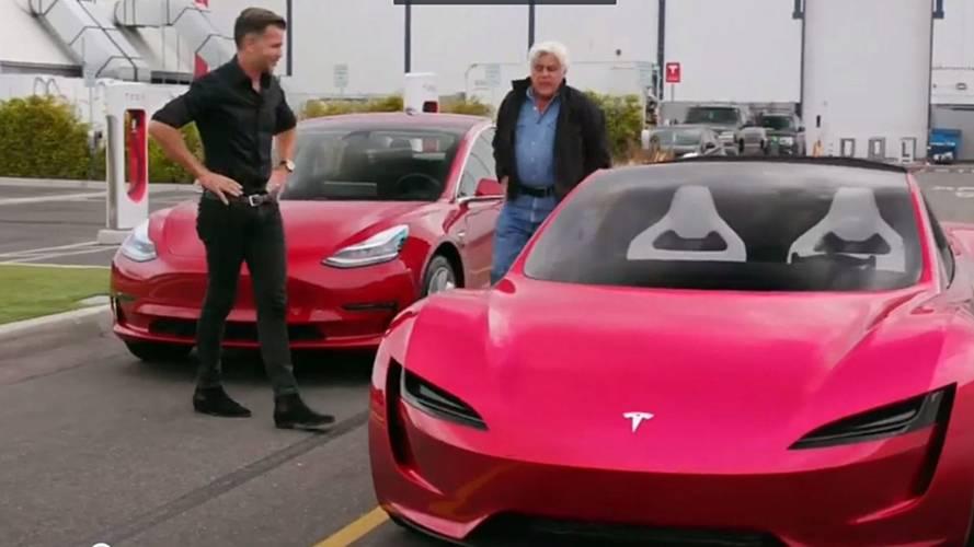 Jay Leno Talks New Tesla Roadster With Chief Designer