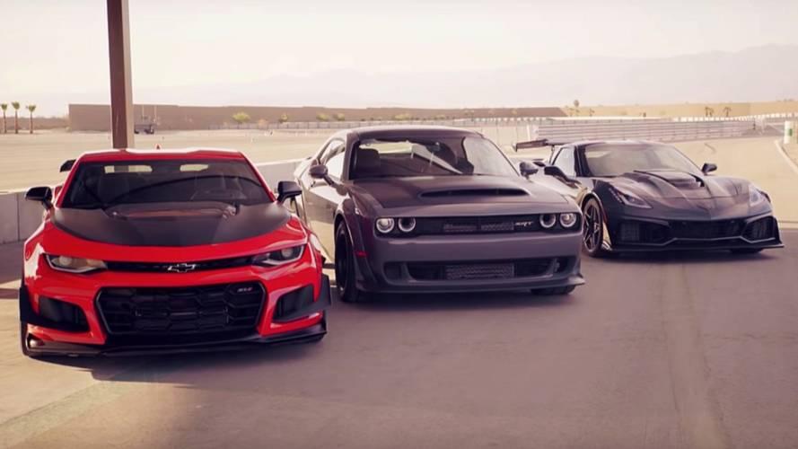 Top Gear'ın üç Amerikan süper otomobilini kıyaslamasını izleyin