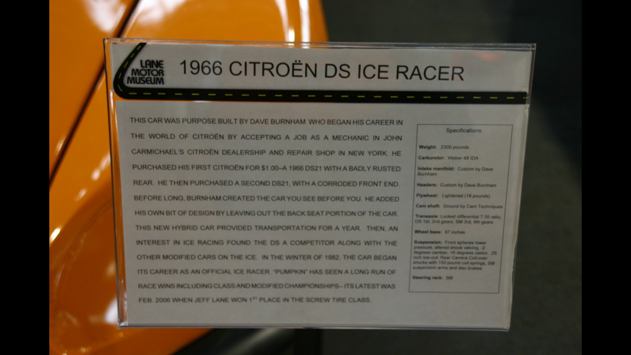 Citroen DS 19 Ice Racer