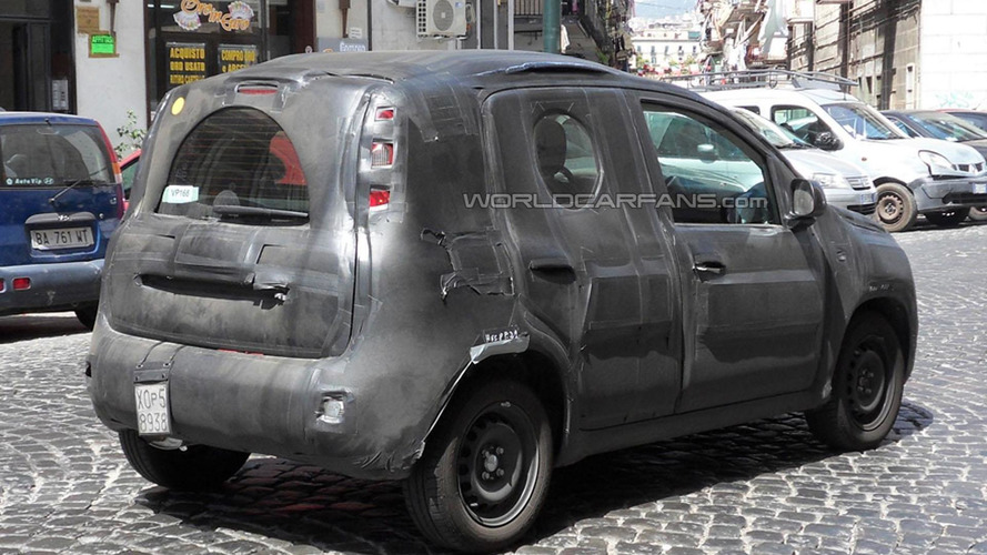 2012 Fiat Panda spied for the first time