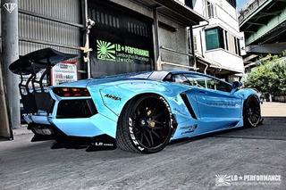 Liberty Walk Lamborghini Aventador is Wonderfully Garish