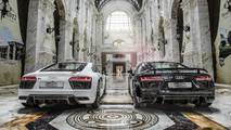 Audi R8 V10 Plus and R8 V10 RWS inside the Al Hazm Mall