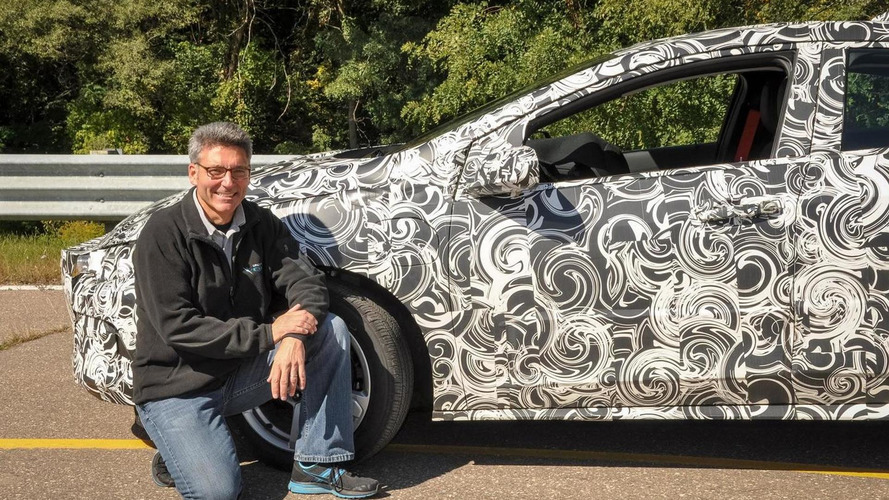 Chevrolet teases 2016 Volt wrapped around in swirly camouflage