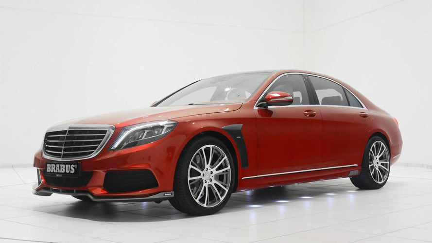 Brabus gets ready for Christmas with red Mercedes-Benz S-Class (45 photos)