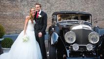 Giedo van der Garde with bride Denise Boekhooren