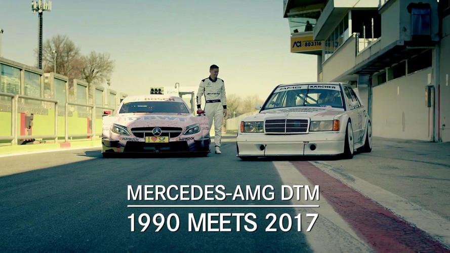 Mercedes 190E ve C63 DTM araçlarının kapışması