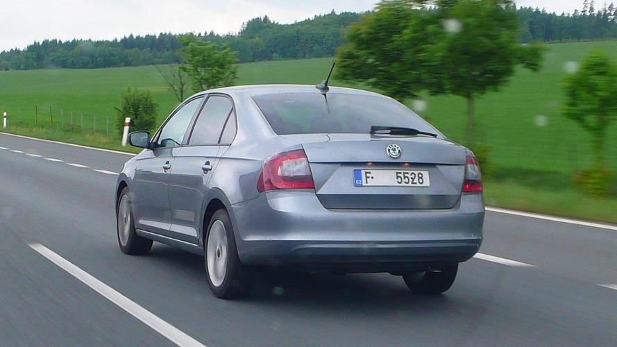 Skoda Rapid spotted on Czech highway