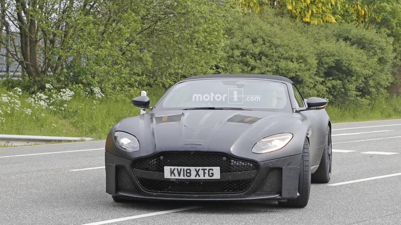 Aston Martin DBS Superleggera Volante spy photo