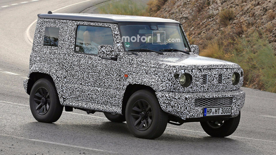 Suzuki Jimny Caught In Motion Doing Its Best G-Class Impression