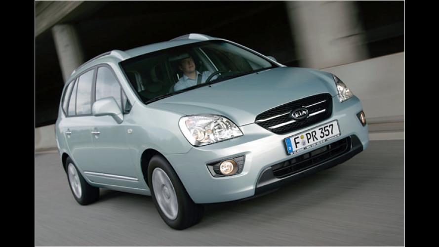 Kompaktvan Kia Carens mit neuer Basisversion – ohne ESP