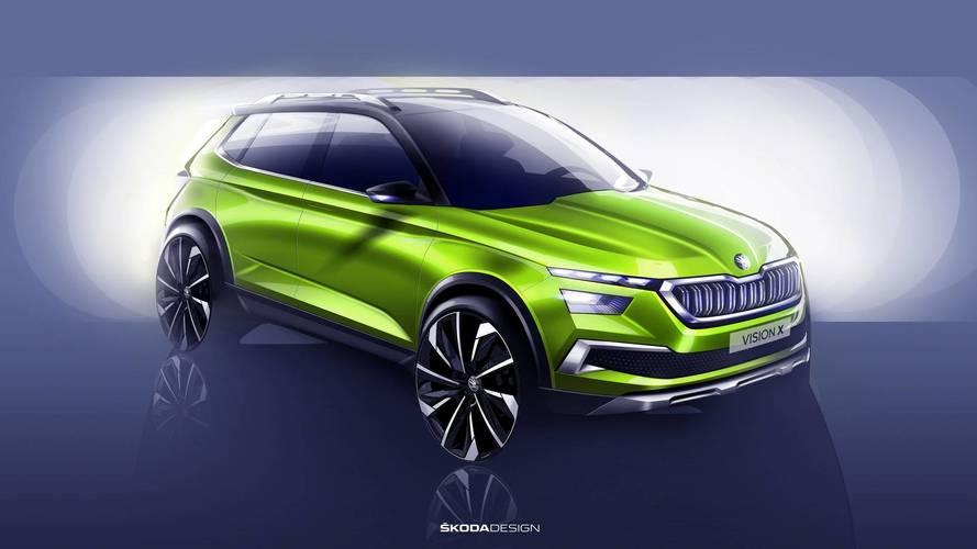 Skoda mostra teasers do Vision X, versão tcheca do Volkswagen T-Cross