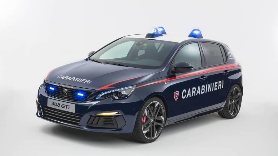Los Carabinieri estrenan un Peugeot 308 GTi 2018 como coche patrulla