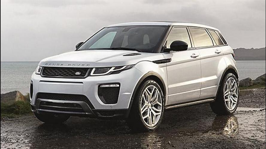 Range Rover Evoque restyling, con LED e motori più efficienti