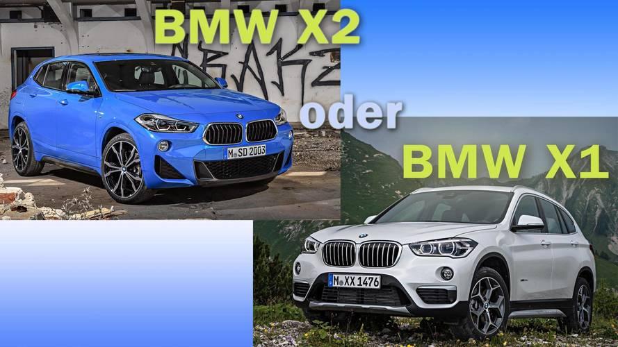 BMW X2 und BMW X1 im Vergleich