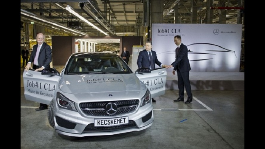 Mercedes inicia produção do novo CLA na Hungria