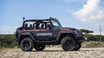 La Jeep Wrangler dei Carabinieri
