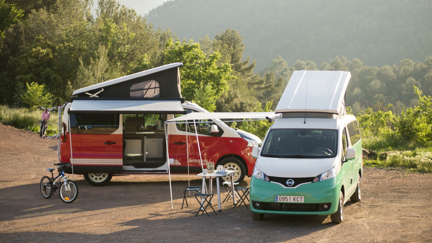 Nissan Camper: vans NV300 e e-NV200 viram casas sobre rodas na Europa
