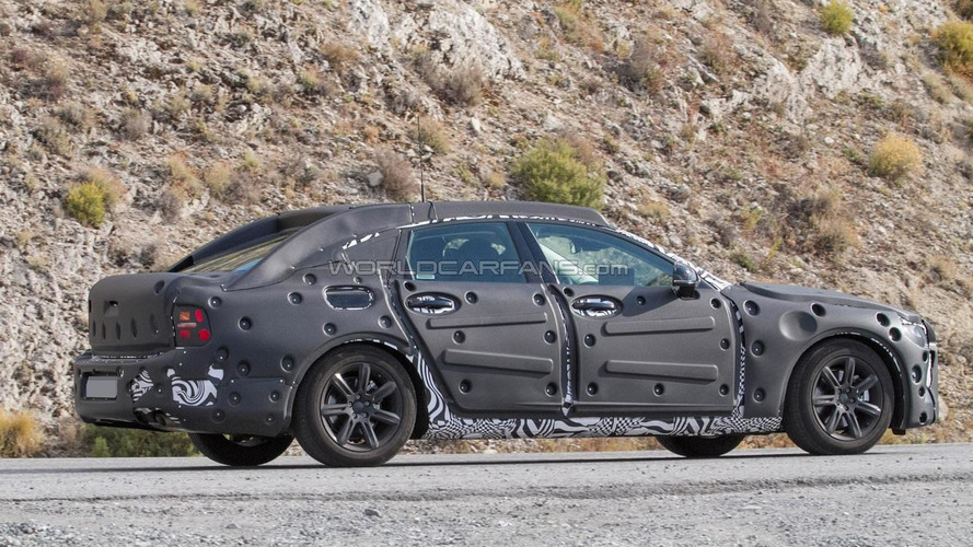 Volvo S90 spied with plug-in hybrid setup