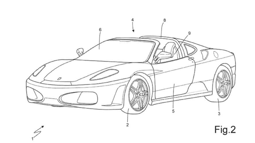 Ferrari, yeni bir Targa tavan patenti alıyor