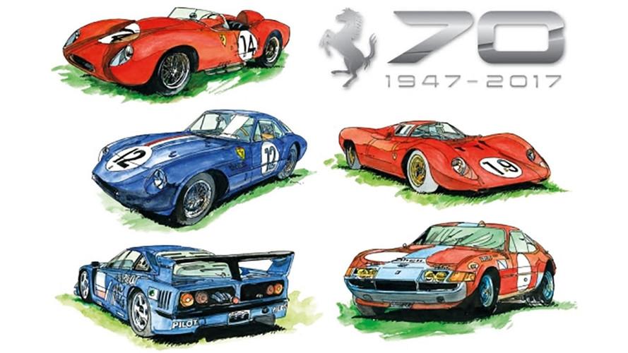 Chantilly pour fêter l'anniversaire Ferrari !