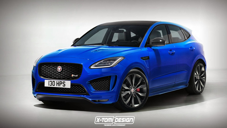 Jaguar E-Pace Rendered In Hot R-S Trim
