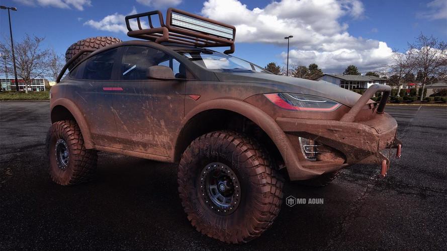 Tesla Model X'e off-road canavarı tasarım yorumu