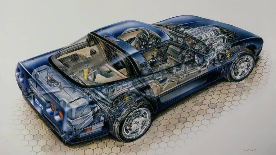 Teknik Çizim: Chevrolet C4 Corvette ZR-1